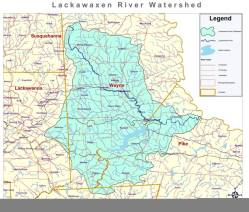 Map of the Lackawaxen River